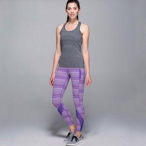 Lululemon Purple Pink Stripe Inspire Tights